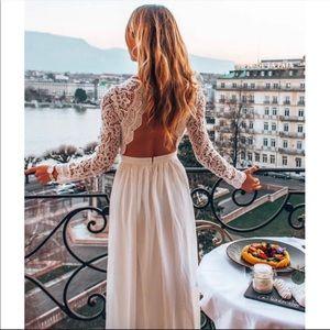Lulu's White Lace Dress